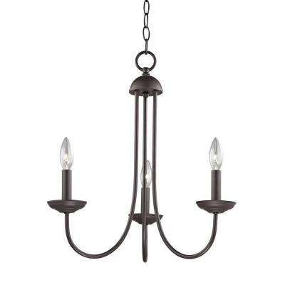 Williamsport 3-Light Oil-Rubbed Bronze Chandelier