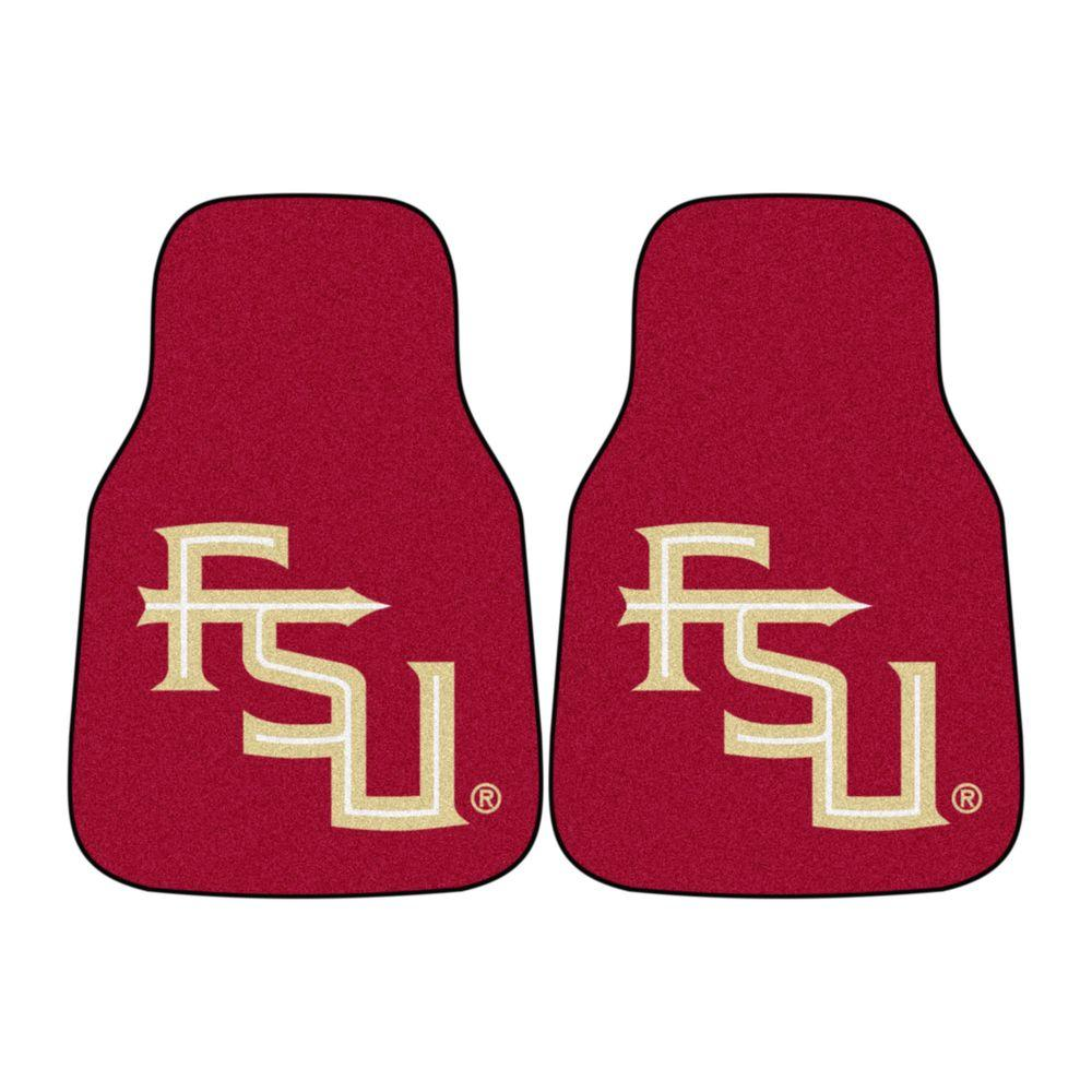 Florida State University 18 in. x 27 in. 2-Piece Carpeted Car