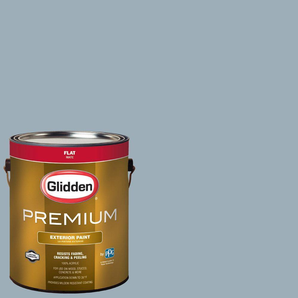 Glidden Premium 1-gal. #HDGV11 Oxford Blue Flat Latex Exterior Paint ...