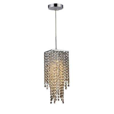 Crystal art deco chandeliers lighting the home depot sheea chrome indoor crystal falls chandelier with shade aloadofball Images