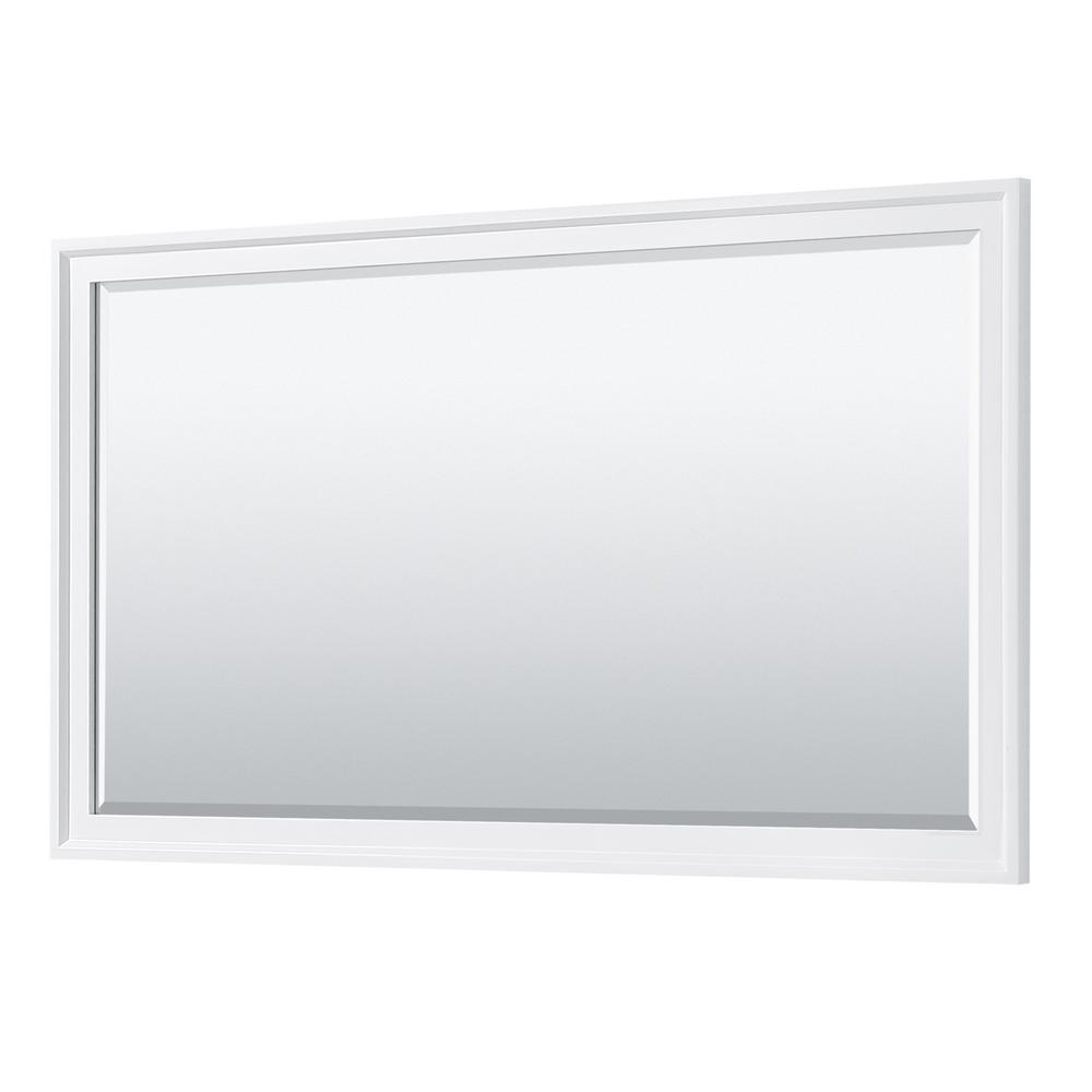 Tamara 58 in. W x 33 in. H Framed Wall Mirror in White
