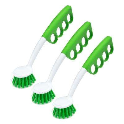 Dish Brush with Unique, Cushioned Grip (3-Pack)