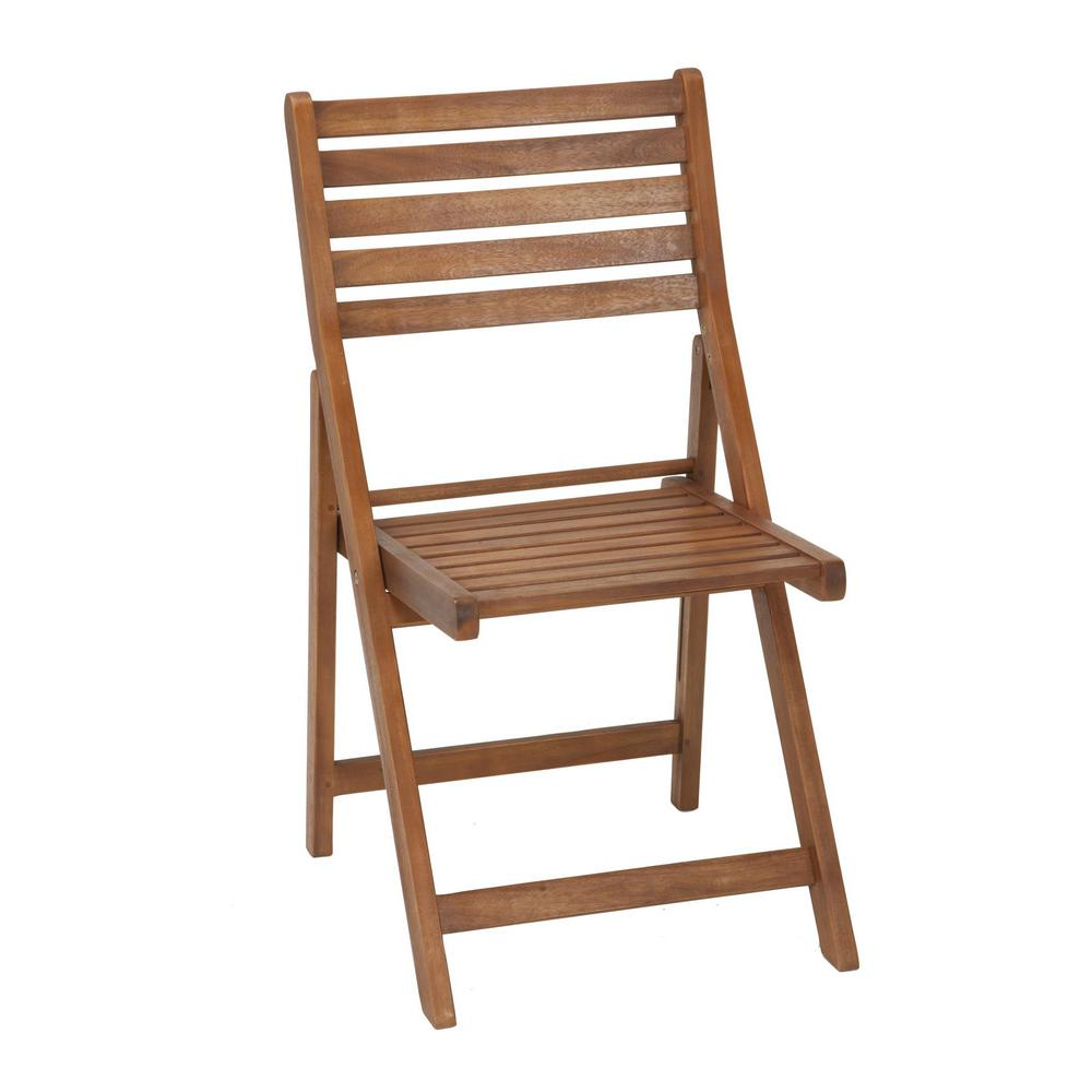 Intellifit Folding Wood Outdoor Dining Chairs (4 Pack)