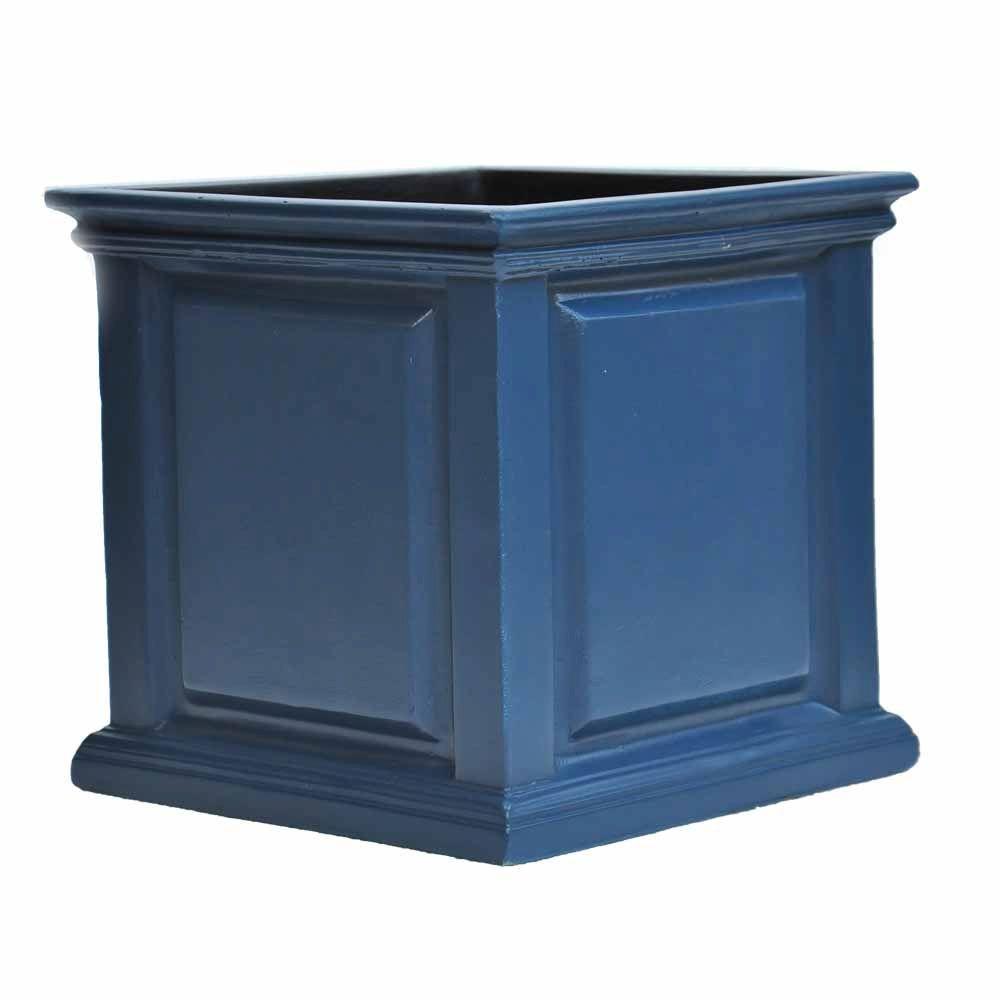 Neptune Blue Composite Straight Side Panel Planter