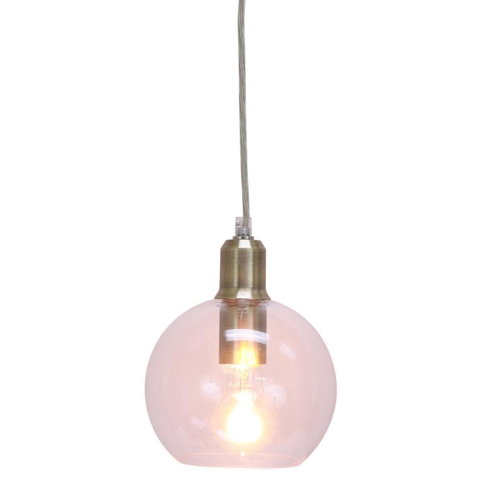 Decor Therapy Chadwick 1 Light Brushed Brass Pendant Ch1414 The
