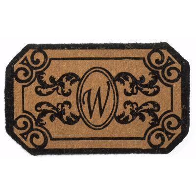 Perfect Home Kingston Rectangle Monogram Mat, 24 in. x 39 in. x 1.5 in. Monogram W-DISCONTINUED