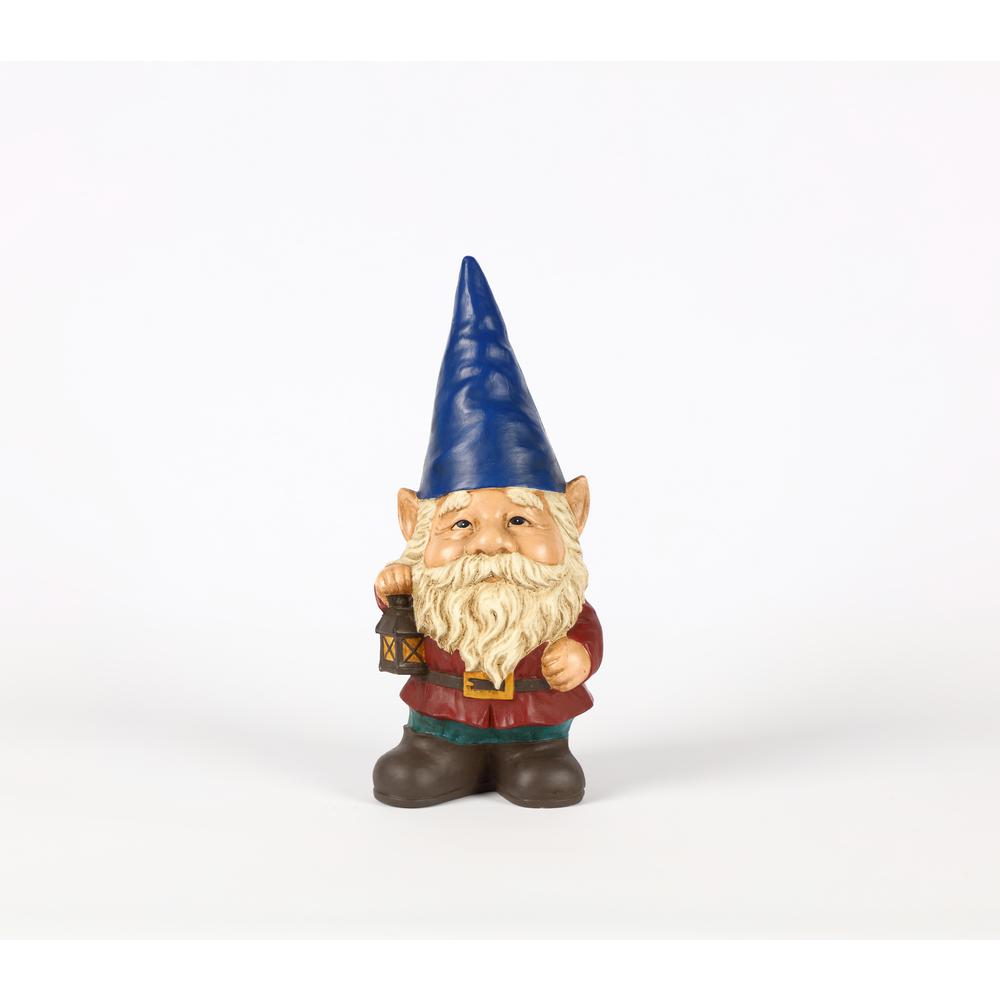 dec4201e2dc Hi-Line Gift Gnome with Blue Hat Holds Lantern-75616-P - The Home Depot