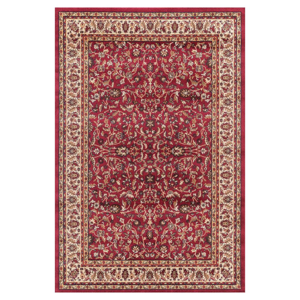 Jewel Kashan Red 3 ft. 11 in. x 5 ft. 7 in. Area Rug