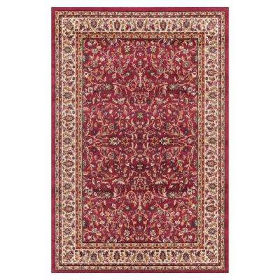 Jewel Kashan Red 7 ft. 10 in. x 9 ft. 10 in. Area Rug