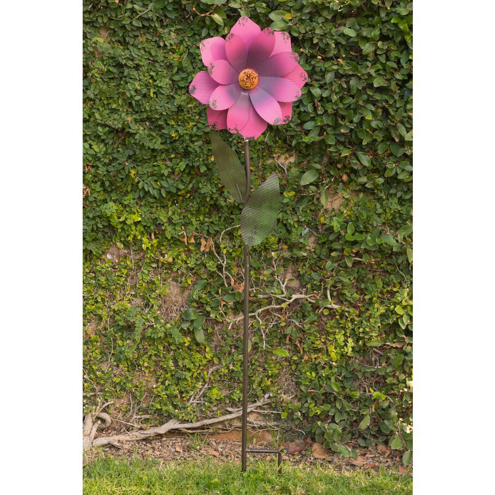 64 in. Tall Metal Daisy Flower Garden Stake