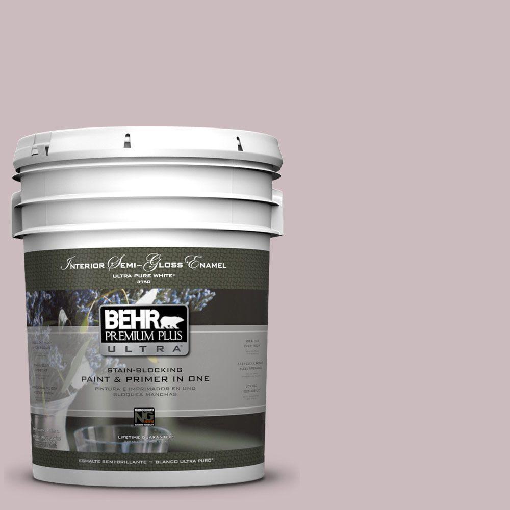 5-gal. #100E-3 Pastel Violet Semi-Gloss Enamel Interior Paint