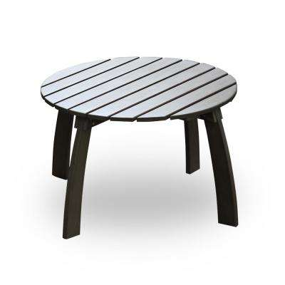 Lyon Round Wood Outdoor Side Table