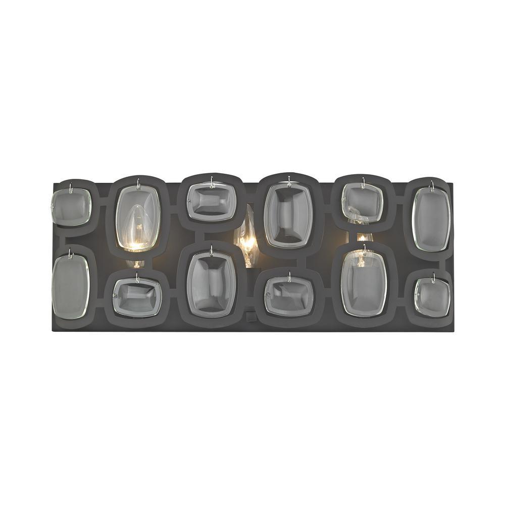 Monserrat 3-Light Oil Rubbed Bronze with Clear Glass Bath Light