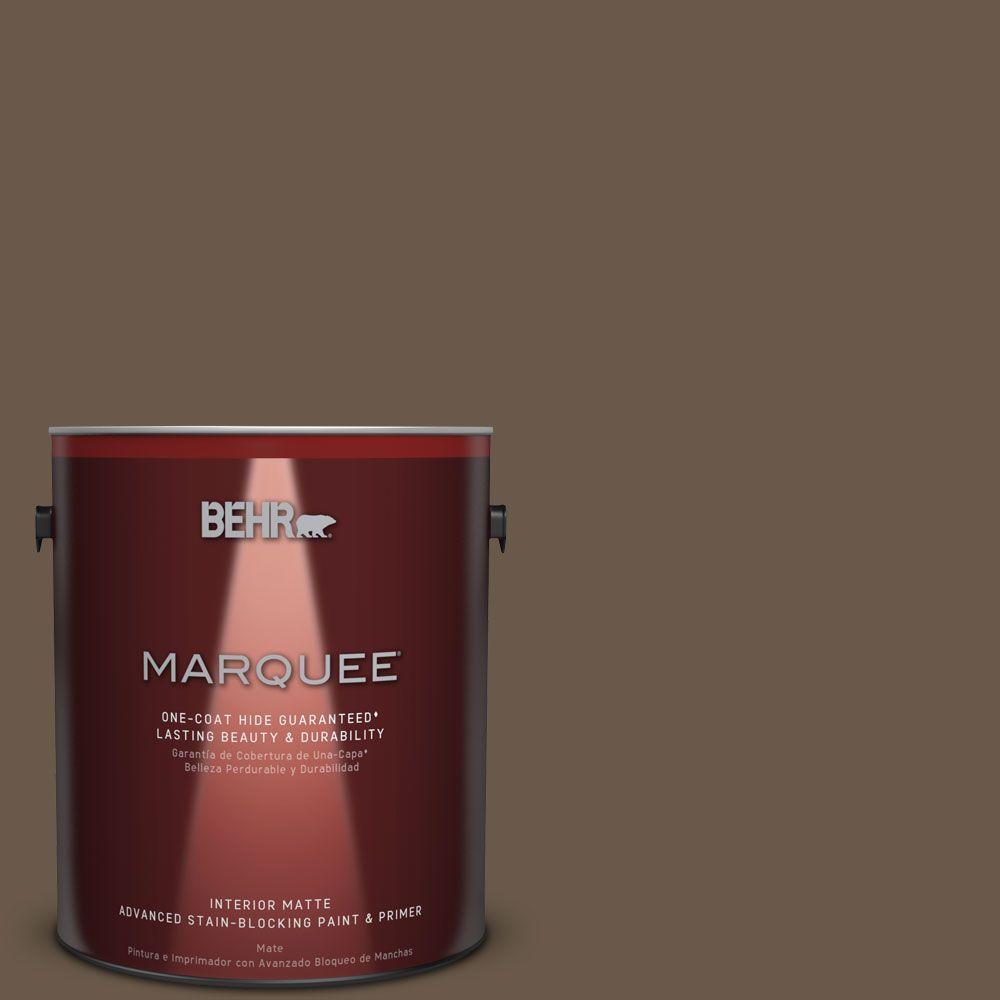 1 gal. #PPU7-25 Clove Brown One-Coat Hide Matte Interior Paint