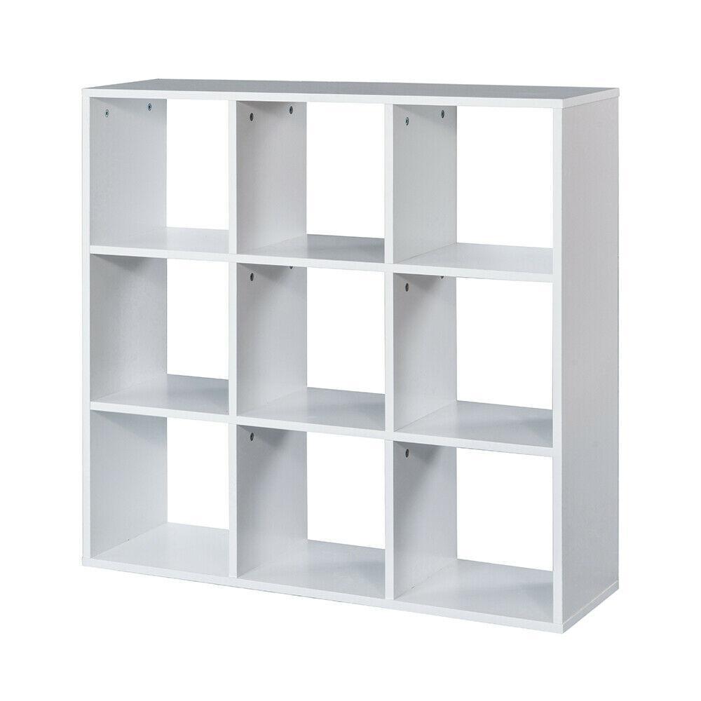Stackable 9 Cube Organizer White Shelf Bookcase Closet Storage Cabinet