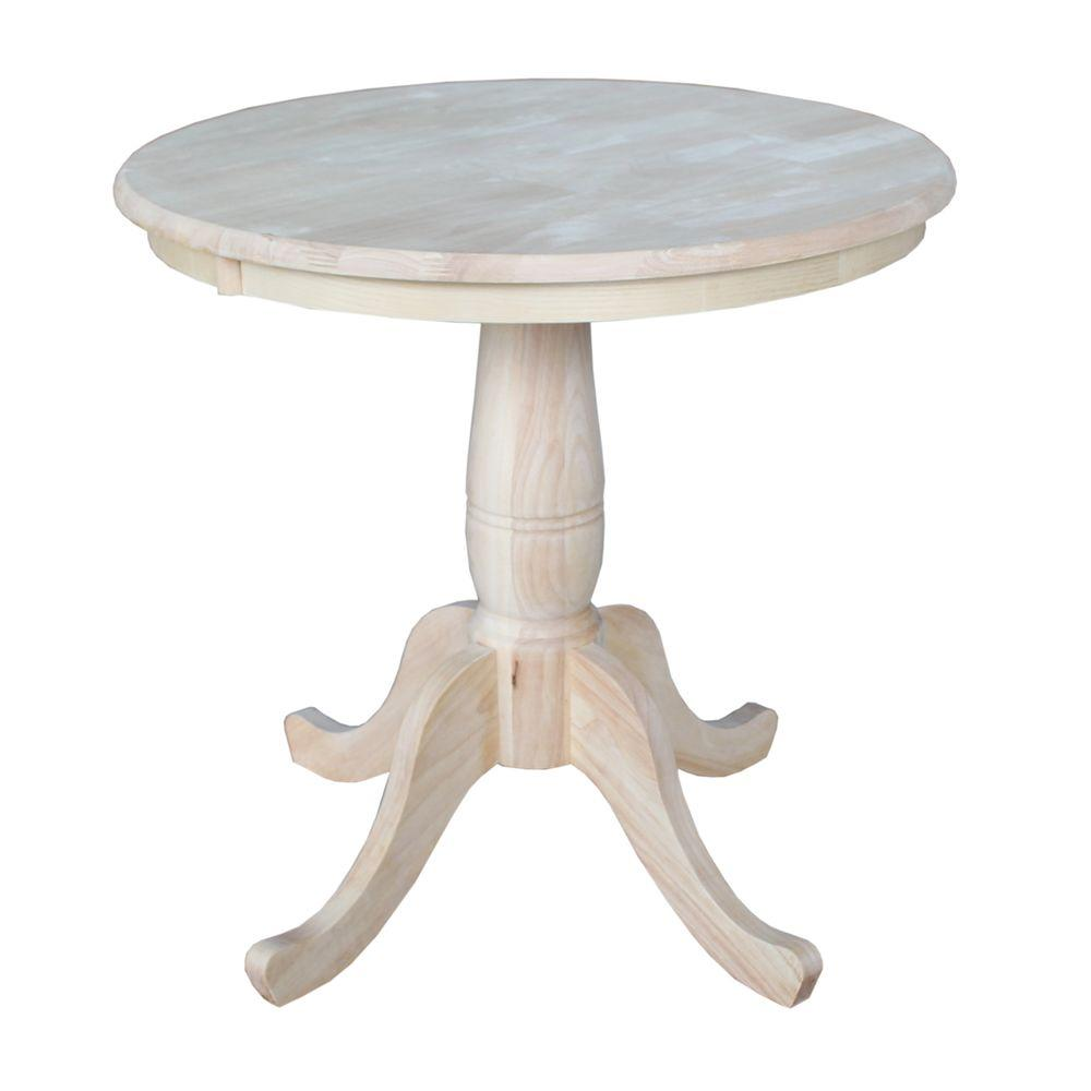 International Concepts Unfinished Pedestal Dining Table