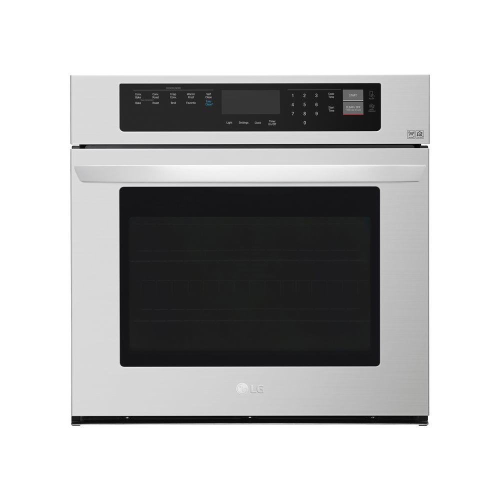 Single Electric Wall Oven With Convection And Easyclean In Stainless Steel