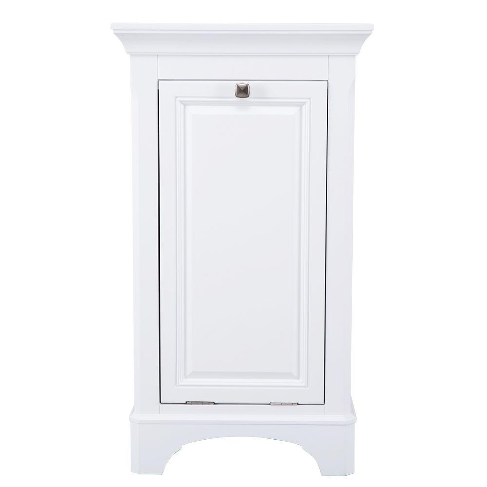 Home decorators collection moorpark 19 in w x 34 in h hamper in white mpwh1934 the home depot - Linen cabinet with laundry hamper ...