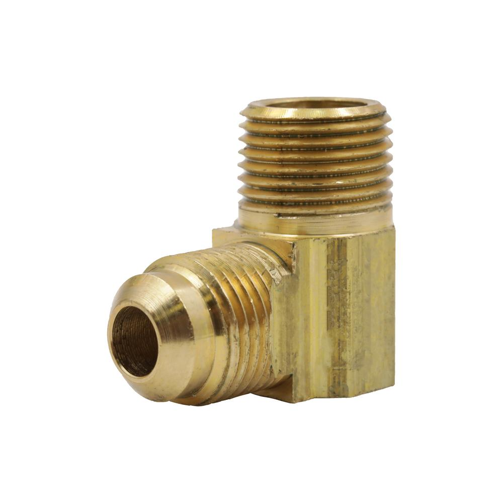 """3//8/"""" to 3//8/"""" Brass 90 Degree Elbow Barbed Oil Fitting Adapter Push Taper Thread"""