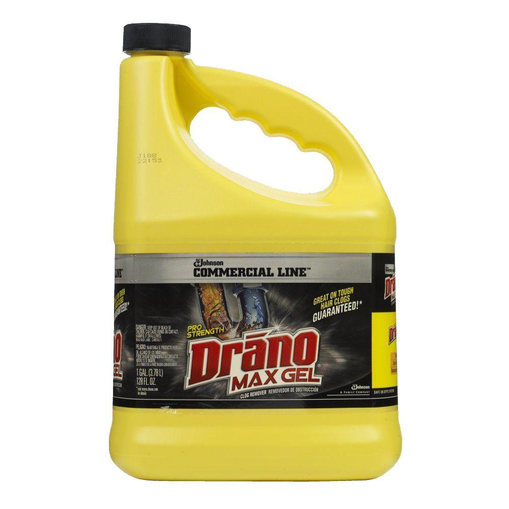 Drano 1 Gal Max Gel Clog Remover 024109 The Home Depot