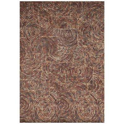 Lifestyle Geneseo Medium Brown 5 ft. x 8 ft. Area Rug