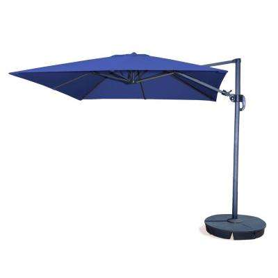 Santorini II 10 ft. Square Cantilever Patio Umbrella in Blue Sunbrella Acrylic