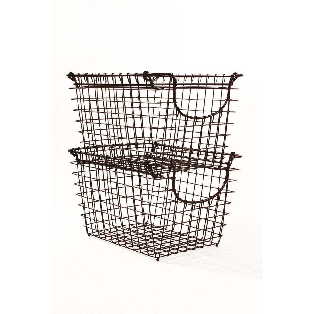 Scoop Small Bronze Stacking Basket