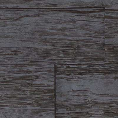 Superior Time Weathered 10 in. x 10 in. Faux Rustic Panel Siding Sample Double Espresso
