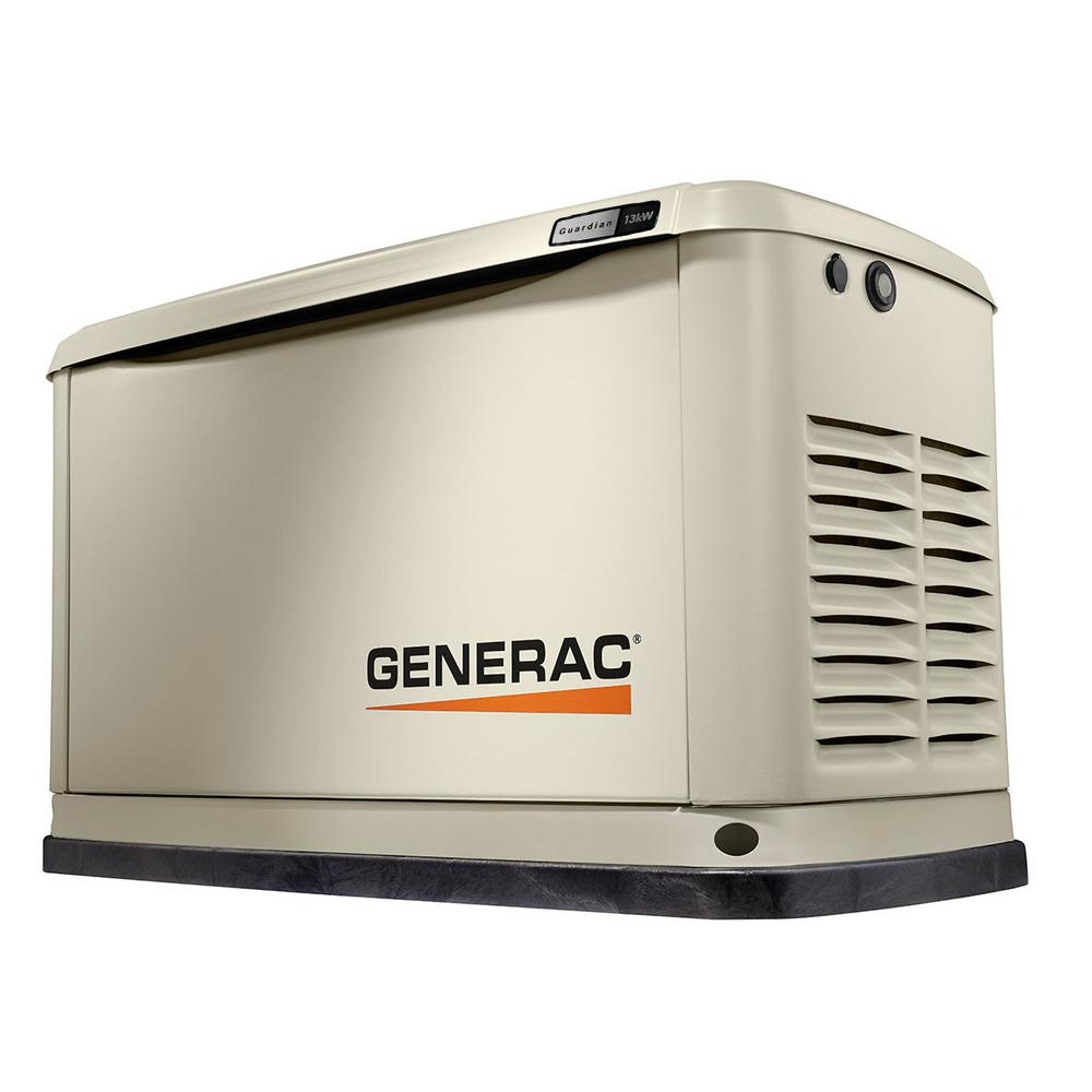 Generac Guardian 13000-Watt Air-Cooled Home Standby Generator with Wi-Fi