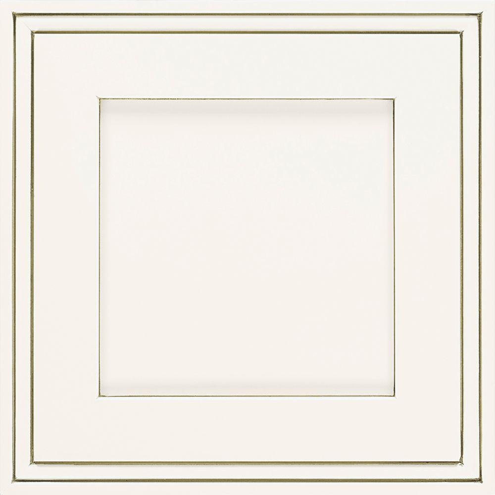 Thomasville Artisan 14.5x14.5 in. Cabinet Door Sample in Daladier Maple White Twilight