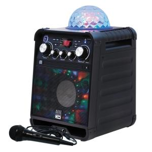 Gemini Audio House Party Speaker System with Disco Lights Ball Bluetooth White