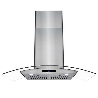 36 in. Convertible Wall Mount Range Hood in Stainless Steel with Tempered Glass and Touch Control