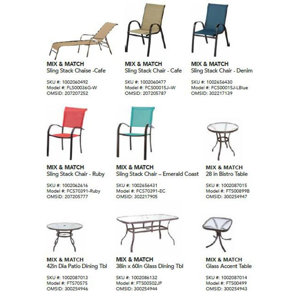 Awesome Hampton Bay Mix And Match Stackable Sling Outdoor Dining Chair In Cafe Gmtry Best Dining Table And Chair Ideas Images Gmtryco