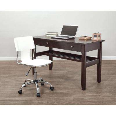 Carina White Office Chair