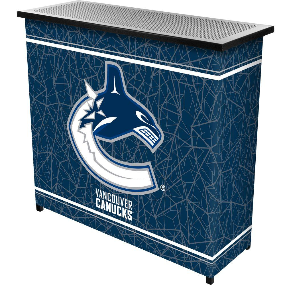 Trademark 2-Shelf 39 in. L x 36 in. H NHL Vancouver Canucks Portable Bar with Case