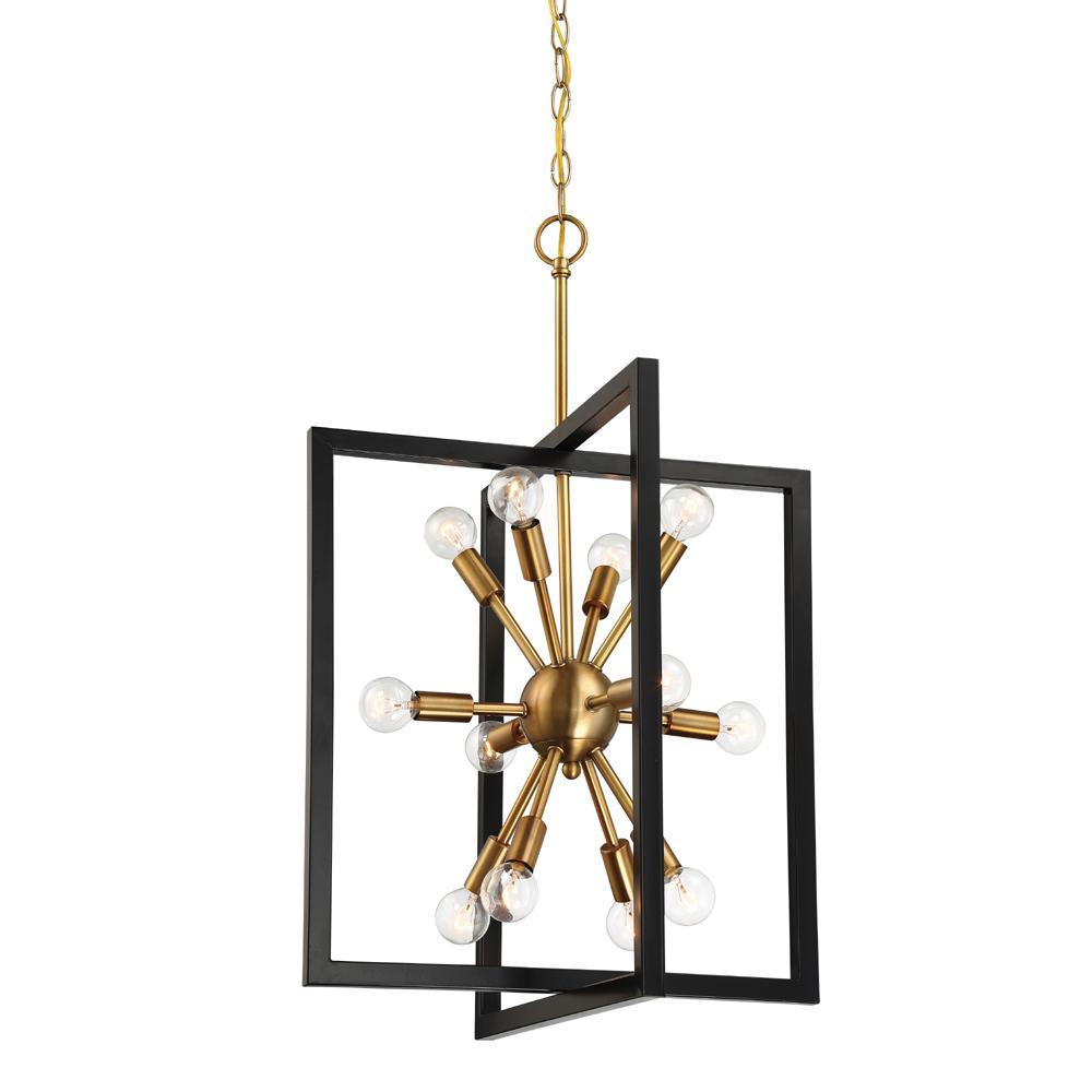 Designers Fountain Xander 12-Light Aged Warm Brass Pendant