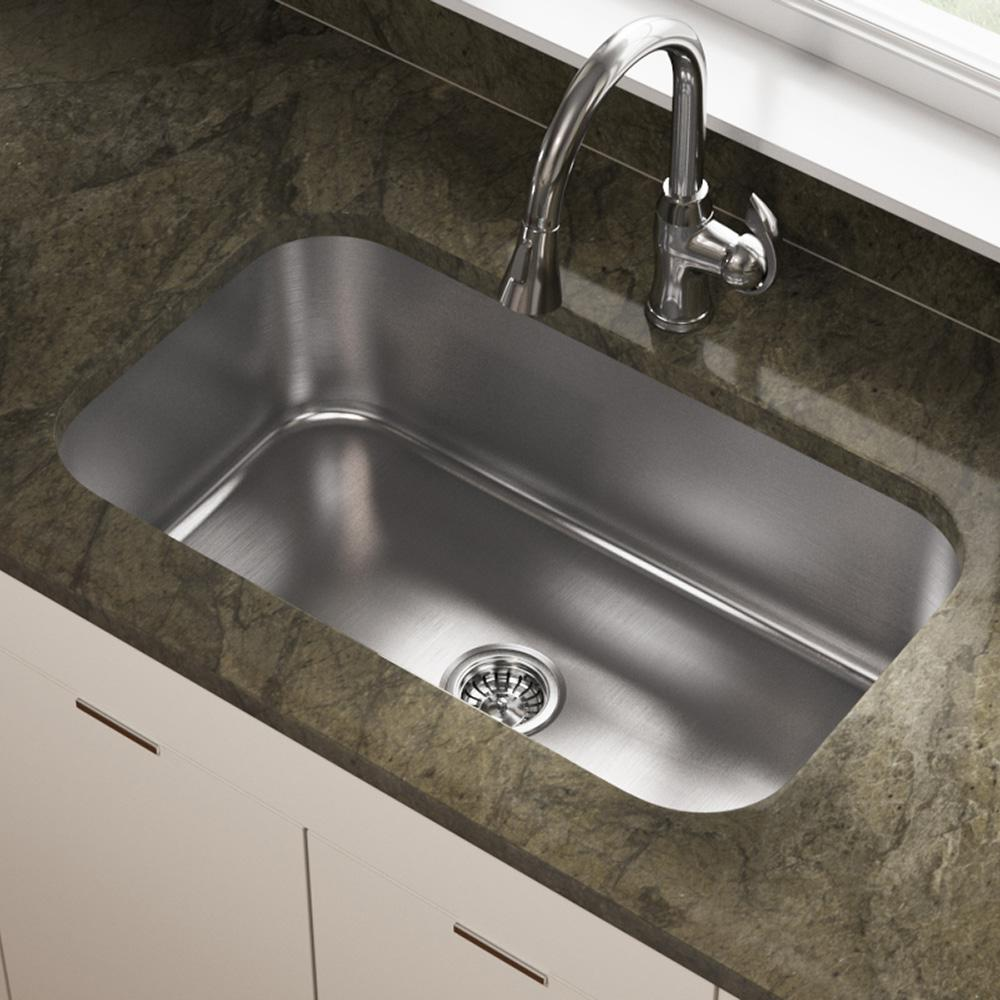 MR Direct Undermount Stainless Steel 32 in. Single Bowl Kitchen Sink