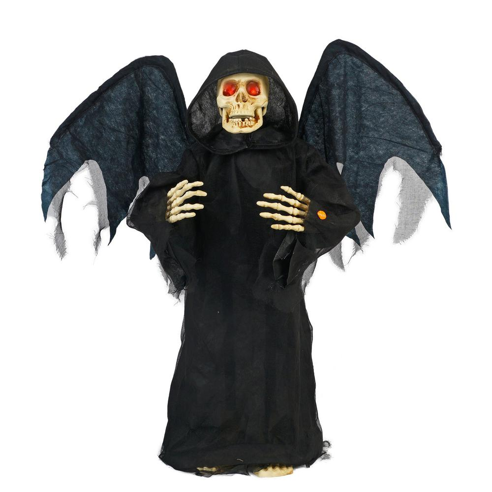 Home Accents Holiday Home Accents Holiday 36 in. Standing Angel-of-Death with LED Illuminated Eyes