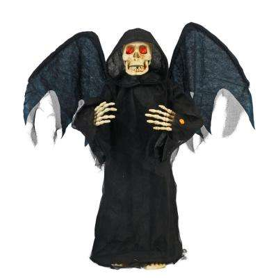 36 in. Standing Angel-of-Death with LED Illuminated Eyes