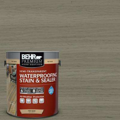 1 gal. #ST-144 Gray Seas Semi-Transparent Waterproofing Exterior Wood Stain and Sealer