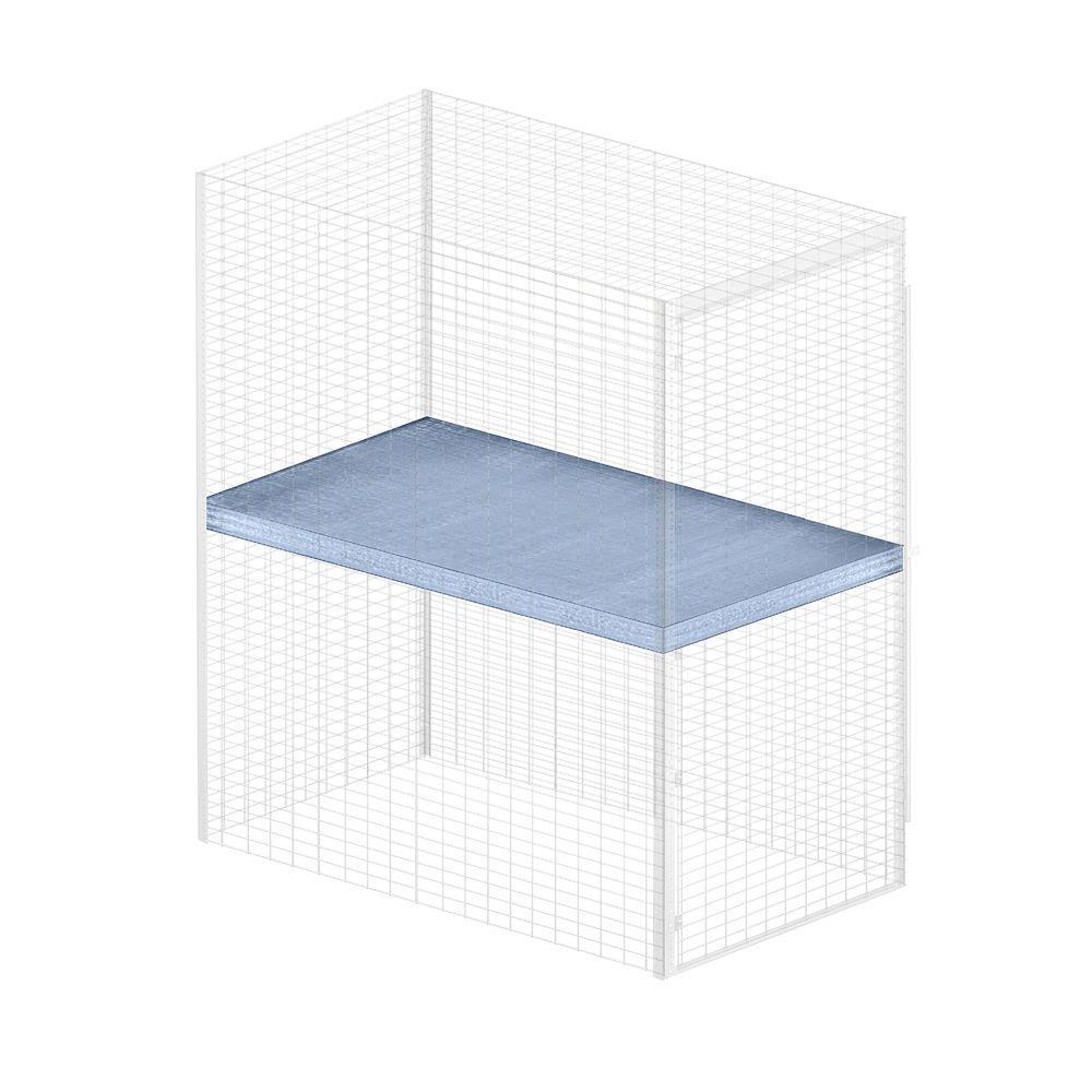 Salsbury Industries Storage Locker Option 36 in. W x 60 in. D x 0.5 in. H Shelf for Bulk Storage Locker in Aluminum