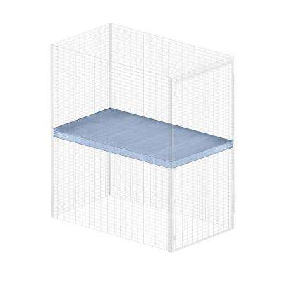 Storage Locker Option 36 in. W x 60 in. D x 0.5 in. H Shelf for Bulk Storage Locker in Aluminum