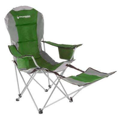 Green Heavy-Duty Camp Chair with Footrest