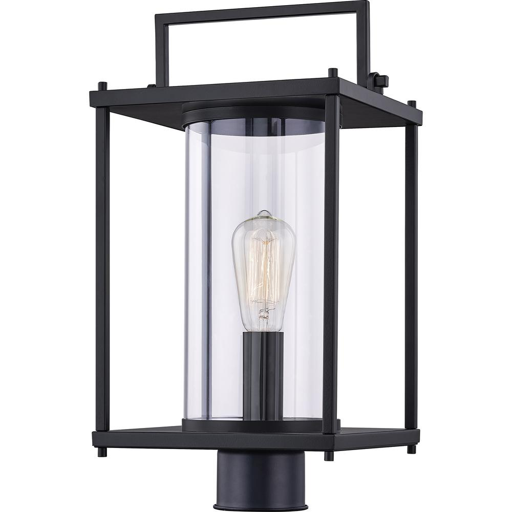 Garrett 1-Light Matte Black Outdoor Post Lantern
