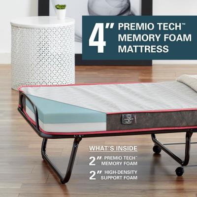 Premium CIAO Comfort 4in. Twin Memory Foam Firm Folding Mattress