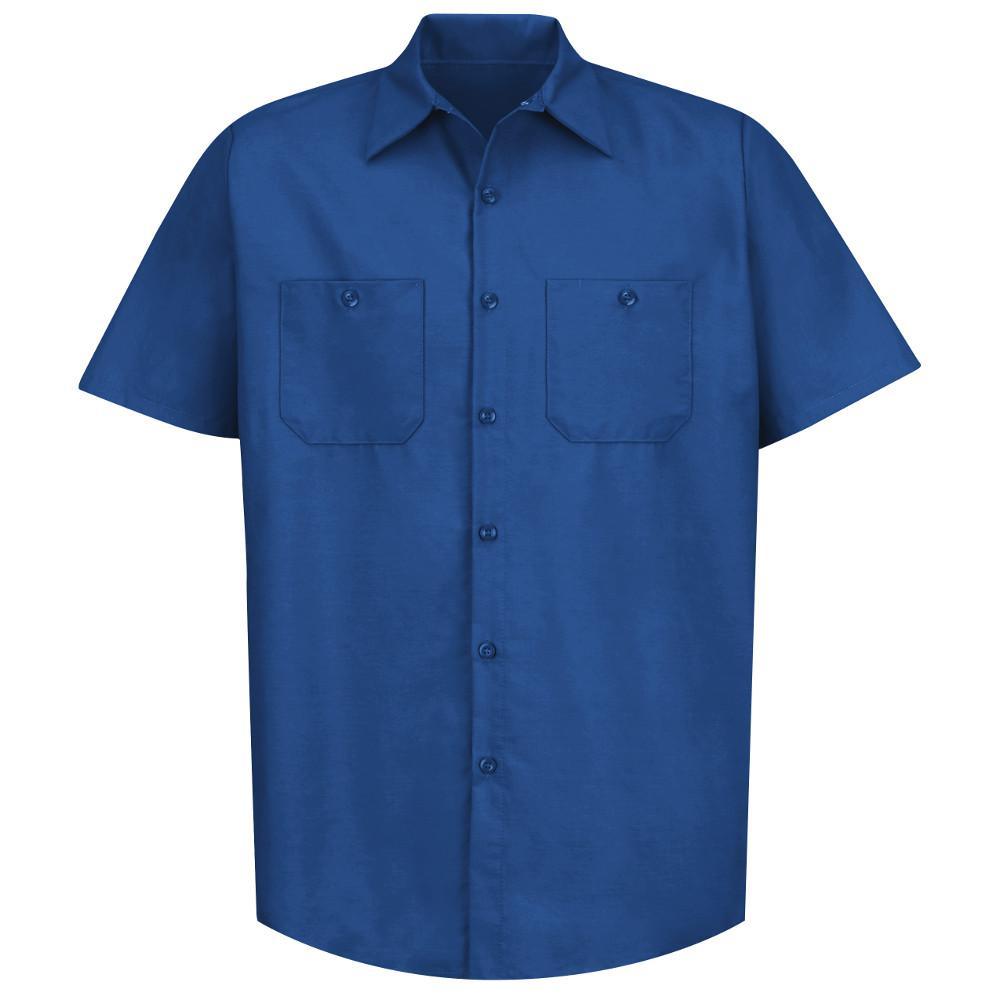 Men's Size 3XL Royal Blue Industrial Work Shirt