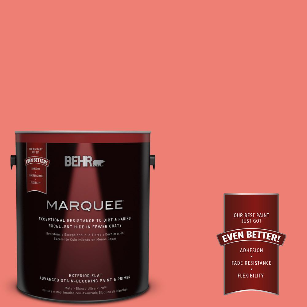 1-gal. #170B-5 Youthful Coral Flat Exterior Paint