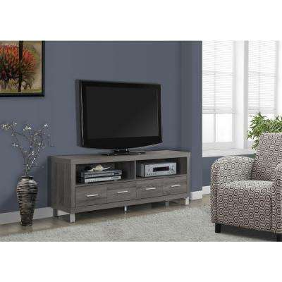 Dark Taupe Storage Entertainment Center