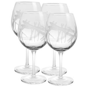Rolf Glass Dragonfly 18 oz. Balloon Wine Glass (Set of 4) by Rolf Glass