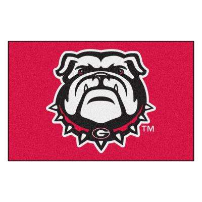 NCAA - University of Georgia Red 1 ft. 7 in. x 2 ft. 6 in. Indoor Accent Rug